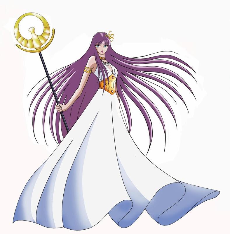 Saori alias Athena déesse de la guerre des chevaliers du zodiaque