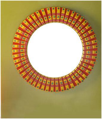 Manualidades y artesanias salticoz espejo con paletas for Espejos redondos con marco de madera