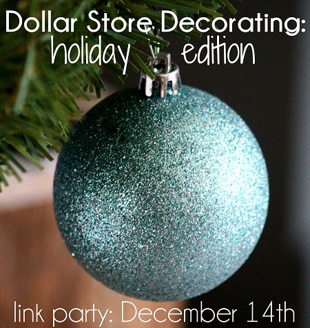 all week my friends and i have been sharing our ideas for decorating using dollar store items christmas is expensive enough so you know its fun to pick - Dollar Store Christmas Crafts