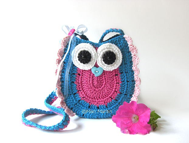 Owl Purse Bag Girls Pattern ~ Crochet Colorful
