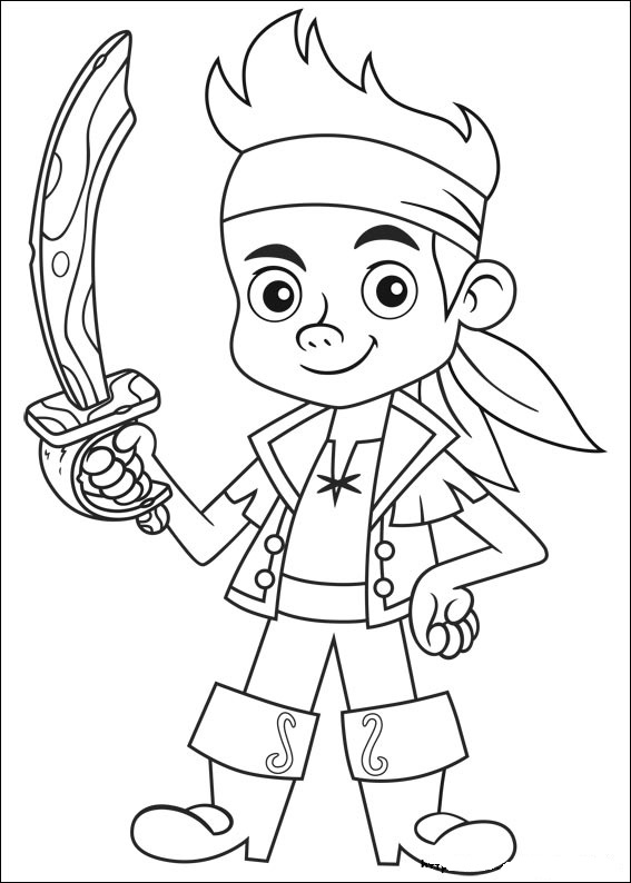Jake And The NeverLand Pirates Coloring Pages title=