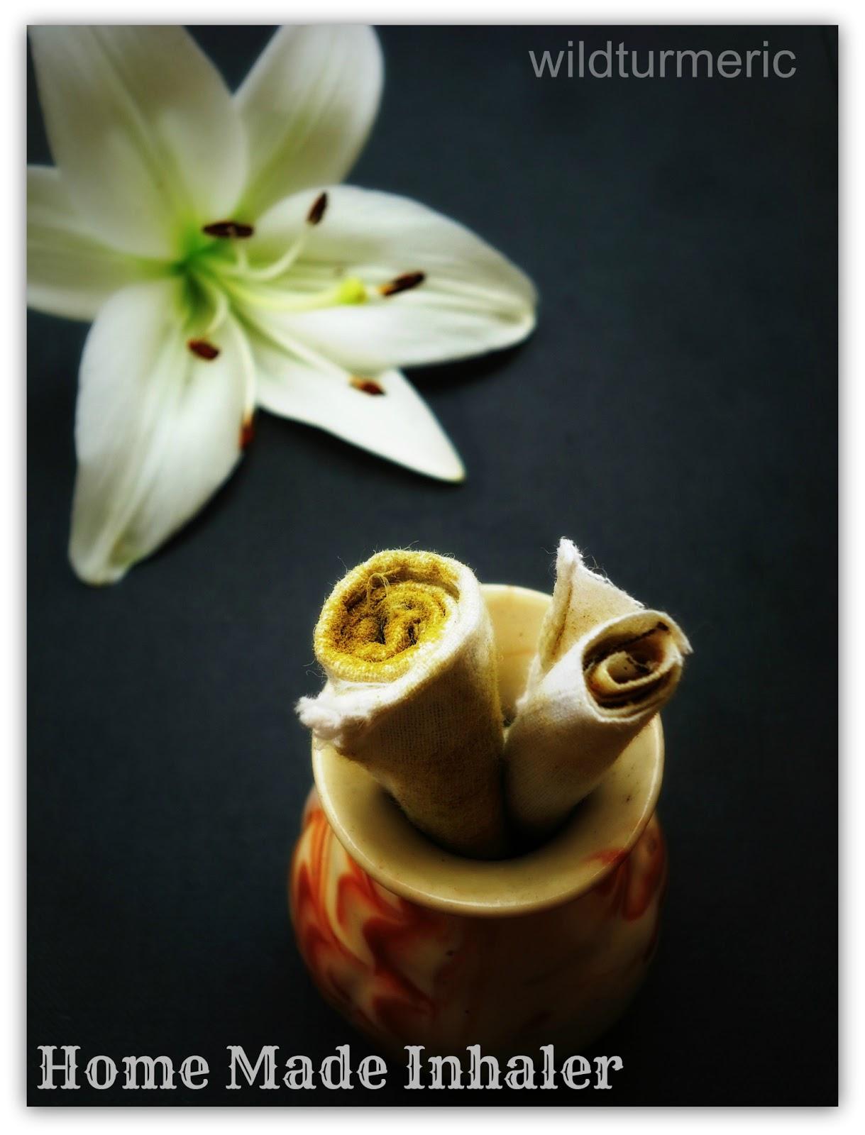Natural Homemade Inhaler for Cold & Blocked Nose