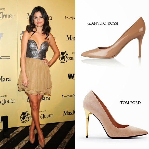 Choose nude-colored high heels to lengthen your leg lines ...