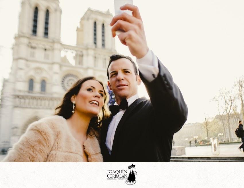 La sesion post boda de Majo y Andrés en París por Joaquín Corbalán