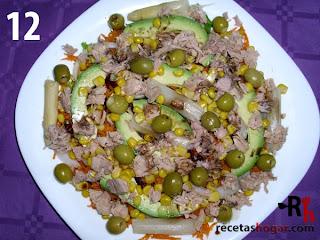 Recetas de cocina: Ensalada mediterránea - Paso 12