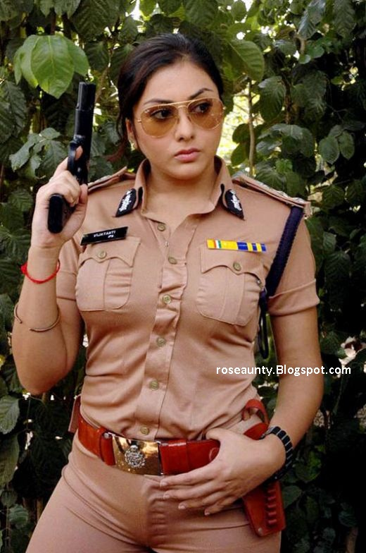 Namitha hot in police uniform tight dress