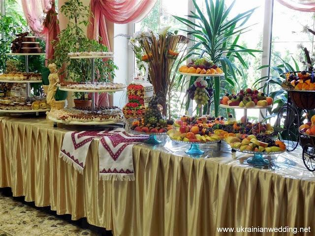 Солодкий стіл на українському весіллі