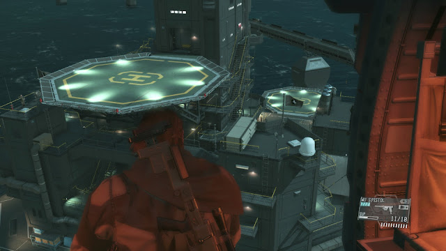 Metal Gear Solid V: The Phantom Pain mother base night