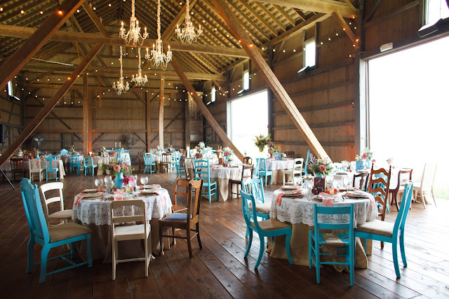 Aqua wedding chairs