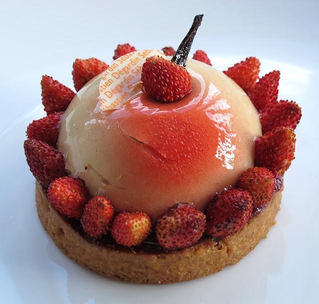 Pâtisserie Sébastien Dégardin - Tarte fraises des bois et sirop d'érable