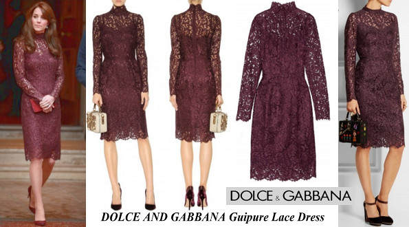 The Duchess of Cambridge's DOLCE AND GABBANA Guipure Lace Dress