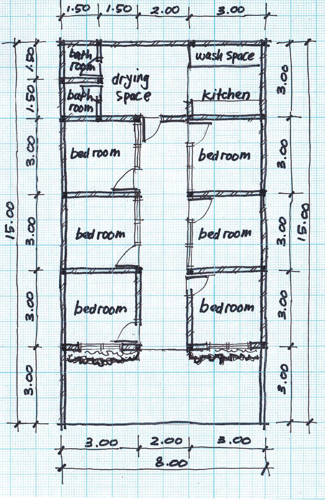 Boarding house plans Houseplans com