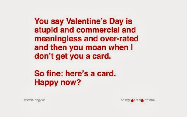Happy Valentines Day 2016 Anti Valentines day Quotes and Cards – Valentine Day Sayings for Cards