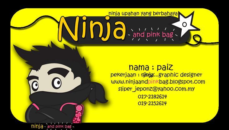 Ninja And Pink Bag