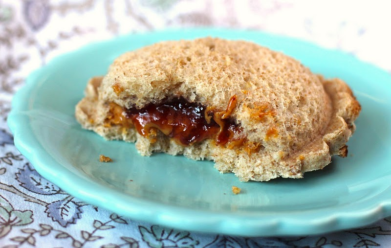 Healthy Homemade Peanut Butter & Jelly Uncrustables