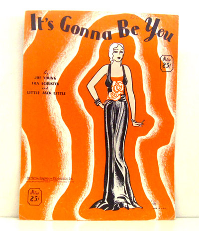 ismoyo's vintage playground: 1930s sheet music art - its gonna be you - flapper