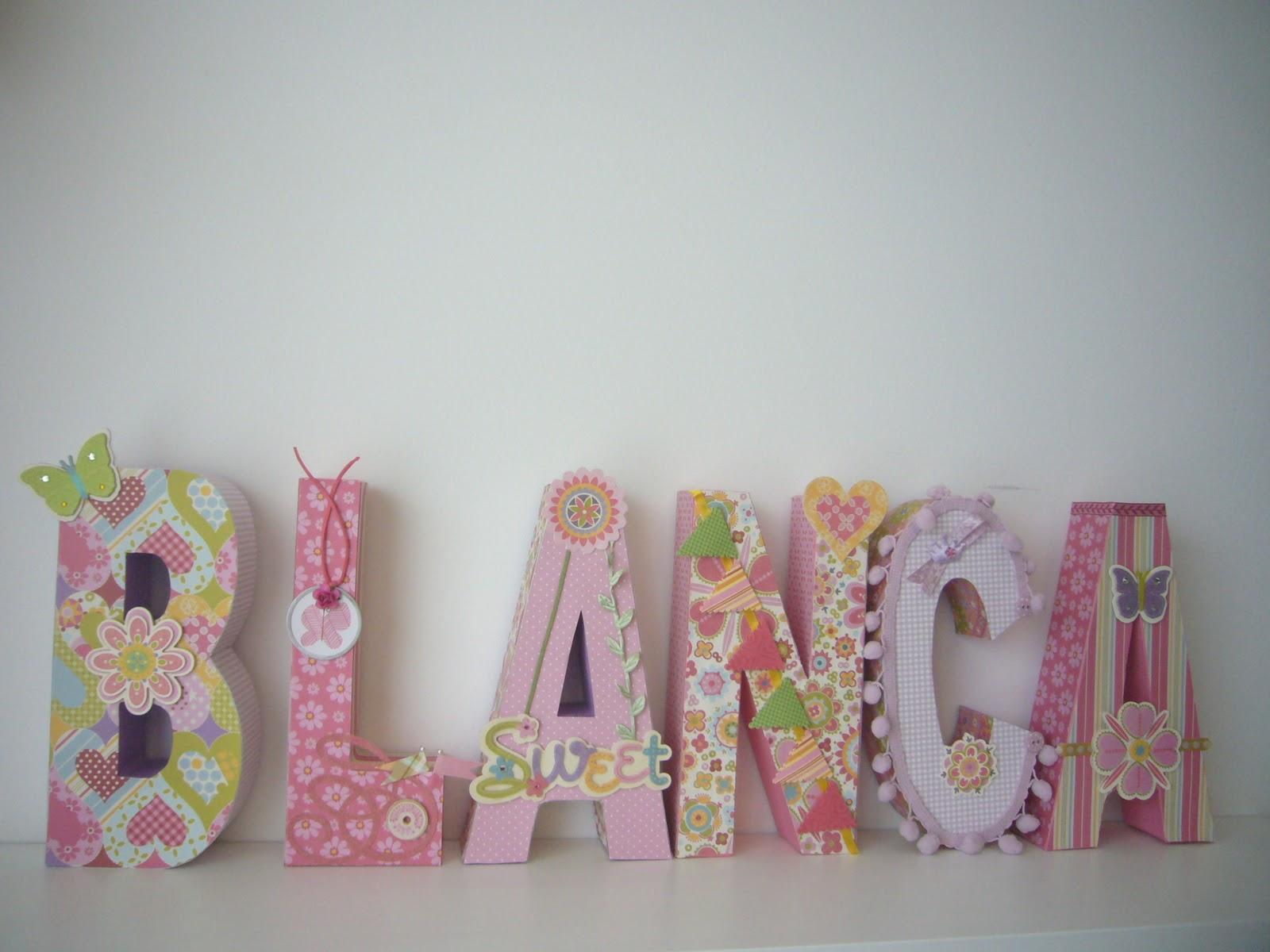 Desvan de scrap bonitas letras decoradas para blanca - Letras decoradas scrap ...