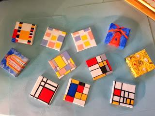 1st batch:  Kandinsky, Mondrian, Wright, and Klimt