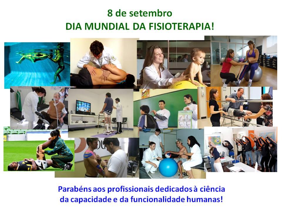 8 de setembro - Dia Mundial da Fisioterapia.