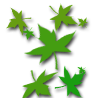 membuat daun berguguran di blog