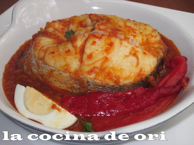 La cocina de ori merluza a la riojana - Cocinar pescado congelado ...