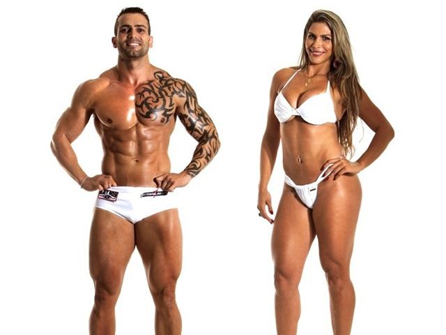 O contador Claudenir e a advogada Thatiane venceram a enquete do UOL e foram para a final do concurso. Foto: Enio Tosta/Fitness Model Agency