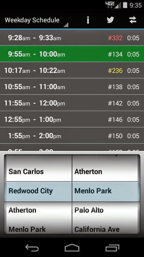 Caltrain phone app