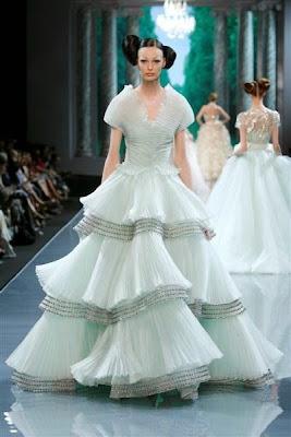 robes sublimes dior vert pâle vert d'eau défilé haute couture paris Christian dior les plus belles robes de haute couture