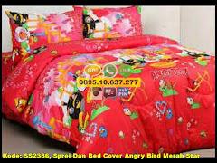 Harga Sprei Dan Bed Cover Angry Bird Merah Star Jual