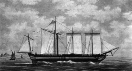 """Η Καρτερία, το ατμοκίνητο τροχήλατο πλοίο που αγοράστηκε με το """"δάνεια της Αγγλίας """". Κατέπλευσε στην Ελλάδα το Σεπτέμβριο τον 1826 με τις μηχανές της σε κακή κατάσταση. Υπό τις εντολές του Χέιστινγκς, η Καρτερία γρήγορα κέρδισε τη φήμη επίφοβου πολεμικού πλοίου. Σε αντίθεση με άλλα ατμοκίνητα που είχαν παραγγελθεί την περίοδο εκείνη, το Καρτερία, προσέφερε μεγάλες υπηρεσίες τα τελευταία χρόνια του Ναυτικού αγώνα της ανεξαρτησίας. Σταμάτησε να χρησιμοποιείται μετά το 1830 λόγω της κακής κατάστασης των μηχανών του."""