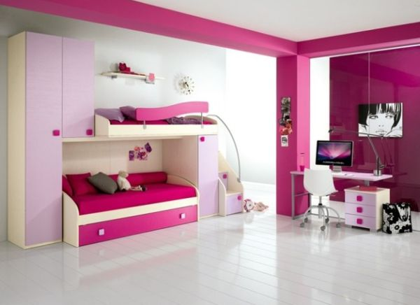 dormitorios juveniles en color fucsia dormitorios. Black Bedroom Furniture Sets. Home Design Ideas