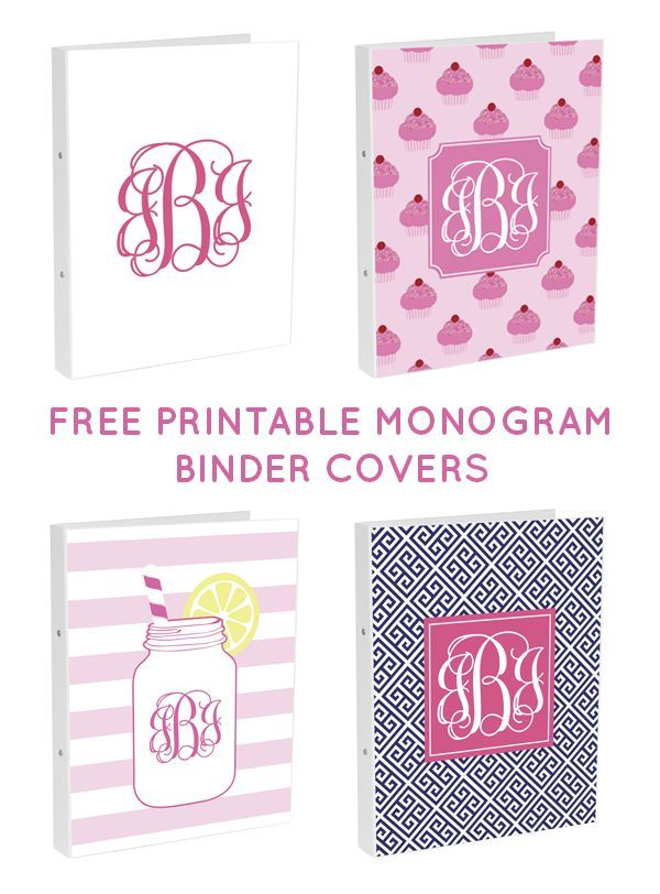 graphic regarding Free Monogram Printable identified as Cunning Texas Gals: No cost Monogram Binder Addresses