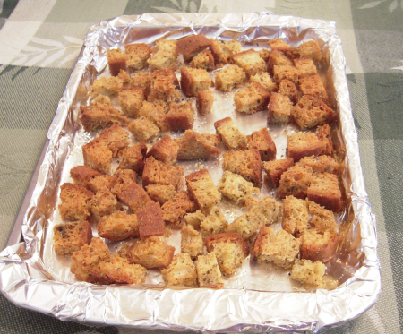 Gluten-Free Book Club: Gluten-Free Croutons and Chicken Caesar Salad