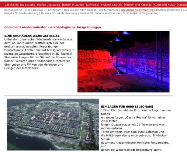 Screenshot Document niedermünster Regensburg