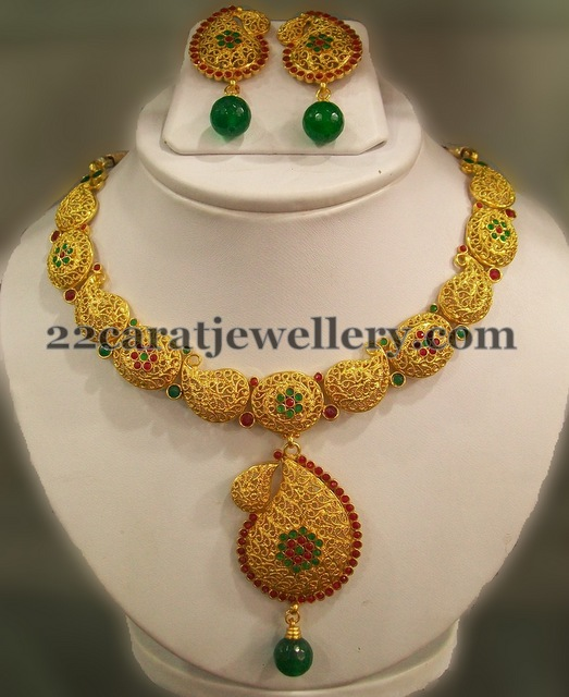 traditional earrings itm long set kundan s gold with necklace girlz polki