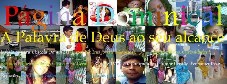 Página  Dominical - A Palavra de Deus ao seu alcance