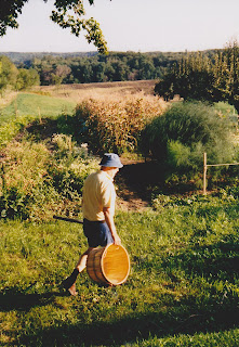 John Leyerle in his first garden in Hope Township
