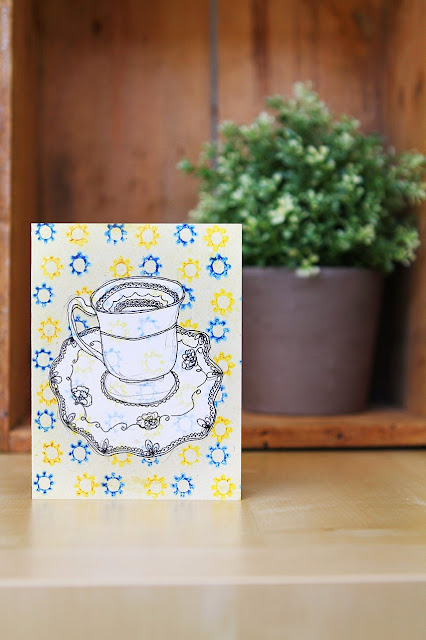 birthday card tea cup greeting card sail and swan