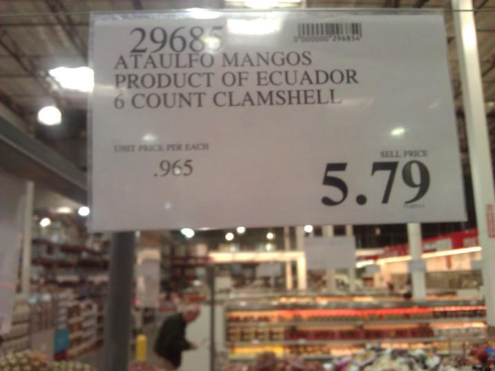PRICE REMAINS THE SAME ON SIX COUNT ATAULFO CLAMSHELLS AT COSTCO ...