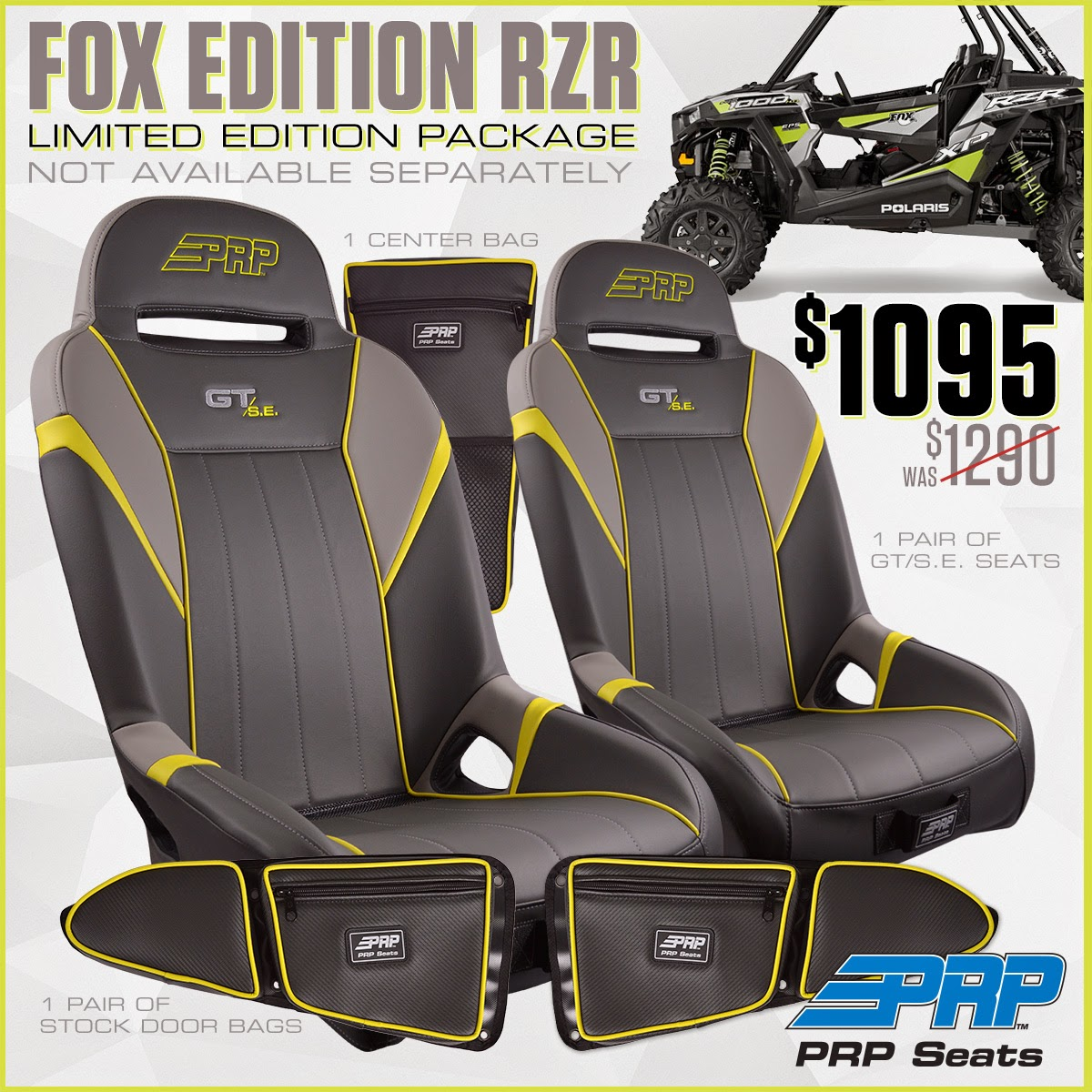FOX Edition RZR, Limited Edition Package from PRP Seats