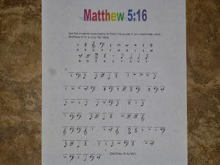 IDEAS UNLIMITED MATTHEW 5 16 MUSICAL
