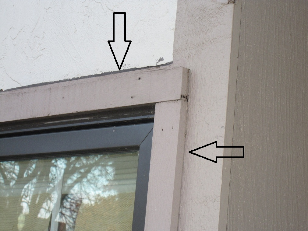 This Window Was Installed With The Extra Thickness Stuck Out Past The  Exterior Wall And Past The 1x4 Facings, So They Stacked A 1x2 Board To Cap  The ...