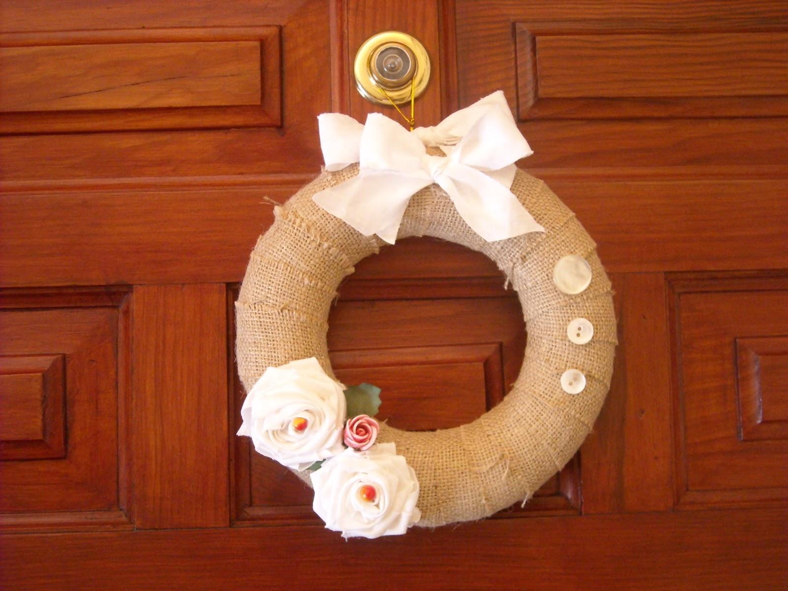 Mis chabolitas adorno de navidad que hice para la puerta for Adorno navidad puerta entrada