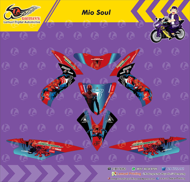 Custom Decal Vinyl Striping Motor Full Body Yamaha Mio Soul Thema - Mio decalssticker design mio sporty