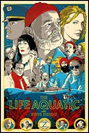 Bello póster de Joshua Budich para Life Aquatic