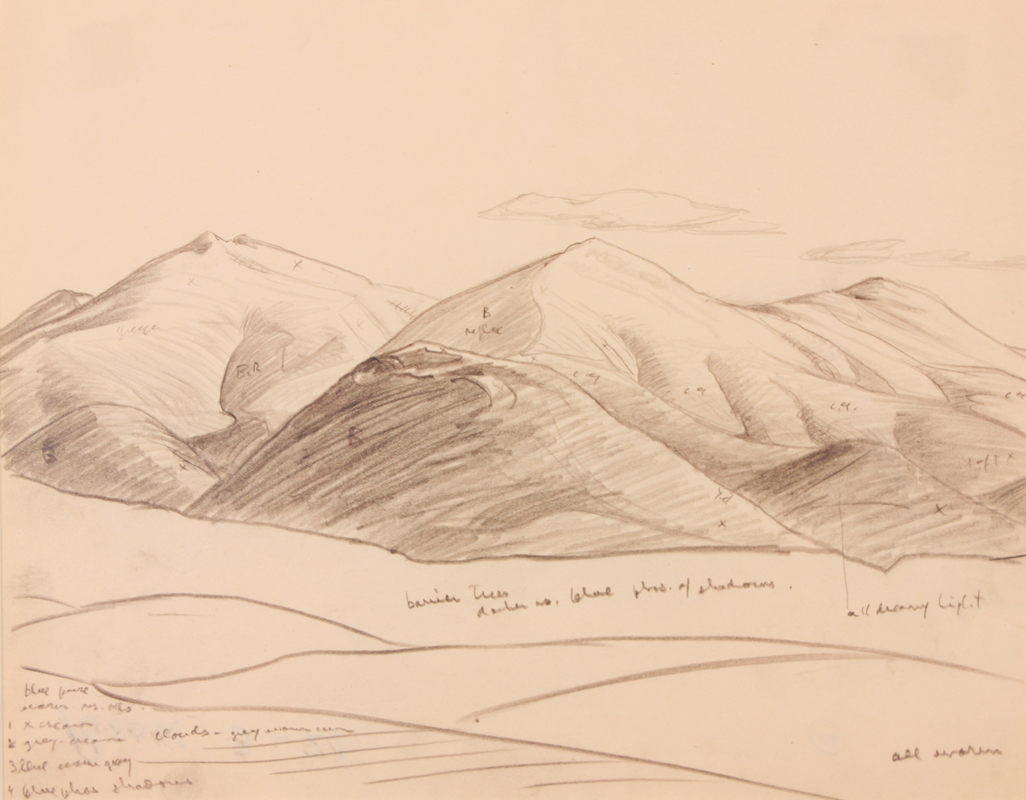 Primary Source Drawings of Drawings in an Artist's