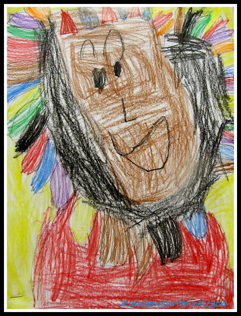 photo of: Kindergarten Drawing for Thanksgiving via RainbowsWIthinReach