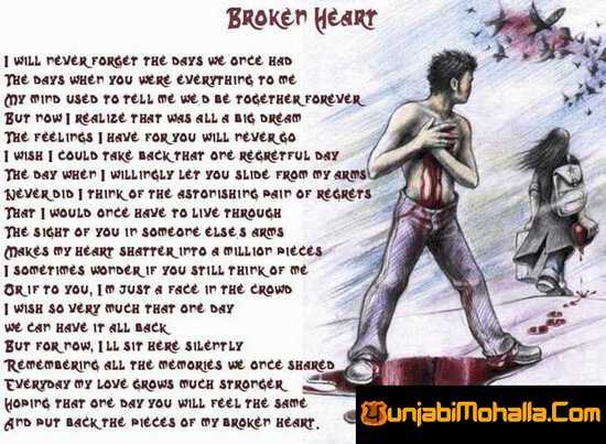 Broken Heart Sms In English For Girlfriend
