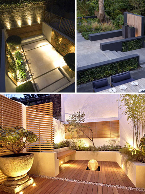 imagens jardins modernos : imagens jardins modernos:Três espaços pequenos, modernos e com muito bom gosto !