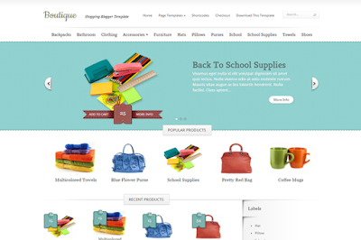 Boutique - Responsive Online Store Blogger Template